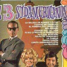 Discos de vinilo: LP 33 RPM / LOS 3 SUDAMERICANOS // EDITADO POR BELTER. Lote 19122903