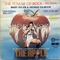 Discos de vinilo: THE APPLE - MARY HYLAN & GEORGE GILMOUR / UNIVERSAL MELODY / CRY FOR ME (SINGLE DE 1980). Lote 3854434