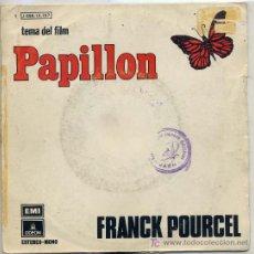 Discos de vinilo: FRANCK POURCEL / PAPILLO / BALLERINA (SINGLE DE 1974). Lote 3838754
