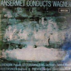 Discos de vinilo: ANSERMET CONDUCTS WAGNER.ERNEST ANSERMET.ORQUESTA DE LA SUISSE ROMANDE.AÑO:1964. Lote 4074428