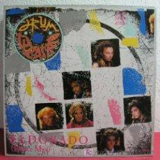Discos de vinilo: DRUM THEATRE ( ELDORADO 2 VERSIONES - JUNGLE OF PEOPLE ) 1985 MAXISINGLE 45RPM. Lote 3987263