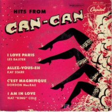 Discos de vinilo: HITS OF CAN-CAN - LES BAXTER, KAY STARR, NAT KING COLE, GORDON MCRAE EP VINILO RARO EDITA CAPITOL. Lote 4047925