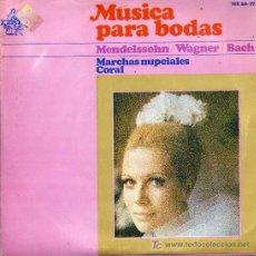 Discos de vinilo: MUSICA PARA BODAS / MARCHA NUPCIAL (MENDELSSOHN) - MARCHA NUPCIAL (WAGNER) / CORAL JESUS, QUE MA JO. Lote 4092099