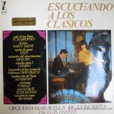 Discos de vinilo: ESCUCHANDO A LOS CLÁSICOS. ORQUESTA MARAVELLA DE CONCIERTOS. DIR.LUIS FERRER. 1965. Lote 4127604