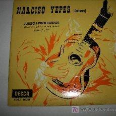 Discos de vinilo: NARCISO YEPES (GUITARRA) JUEGOS PROHIBIDOS (MÚSICA DE LA PELICULA DE RENÉ CLÉMENT) 1.968. Lote 4177565