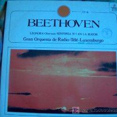 Discos de vinilo: LP - BEETHOVEN - LEONORA OBERTURA-SINFONIA Nº 7 EN LA MAYOR-GRAN ORQUESTA DE RADIO TELE LUXEMBURGO. Lote 4183647
