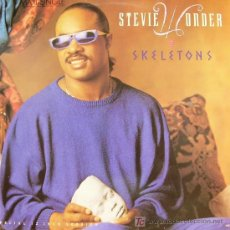 Discos de vinilo: STEVIE WONDER-SKELETONS MAXI SINGLE VINILO EDITADO POR RCA EN 1987. Lote 4216833