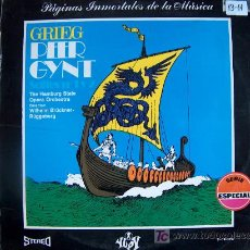 Discos de vinilo: LP - EDVARD GRIEG - PEER GYNT - SUITES Nº 1 Y 2 - EDICIÓN ESPAÑOLA, YUPY 1971. Lote 4218542