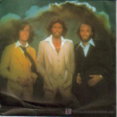 Discos de vinilo: BEE GEES-TOO MUCH HEAVEN + REST YOUR LOVE ON ME SINGLE VINILO PROMOCIONAL MUY RARO. Lote 4257114