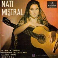 Discos de vinilo: NATI MISTRAL-EL CAFE DE CHINITAS + 3 EP VINILO EDITADO POR COLUMBIA EN 1965. Lote 4263866