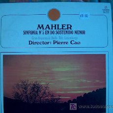 Discos de vinilo: LP - MAHLER - SINFONIA Nº 5 EN DO SOSTENIDO MENOR. Lote 4264997