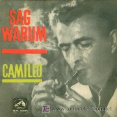 Discos de vinilo: CAMILLO - SAG WARUM - EP RARO DE VINILO DE 1962. Lote 4288558