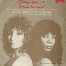 Discos de vinilo: DISCO SENCILLO DE DONNA SUMMER: MY BABY UNDERSTANDS Y CON BARBRA STREISAND CANTA NO MORE TEARS. DE C. Lote 25736287