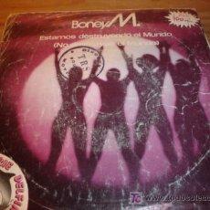 Discos de vinilo: ANTIGUO DISCO SINGLE BONEY M. NO DESTRUYAS EL MUNDO AÑO 1981. Lote 4300477
