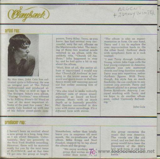 JOHNNY WINTER + ARGENT + CHAMBERS BROTHERS + JOHN HAMMOND-GOOD MORNING LITTLE SCHOOL GIRL + (Música - Discos de Vinilo - EPs - Pop - Rock Extranjero de los 70)