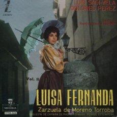 Discos de vinilo: LUIS SAGIVELA - LUISA FERNANDA. Lote 4307048