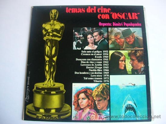 TEMAS DE CINE CON OSCAR (Música - Discos - LP Vinilo - Bandas Sonoras y Música de Actores )