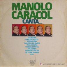 Discos de vinilo: MANOLO CARACOL CANTA .. LP. Lote 12661444