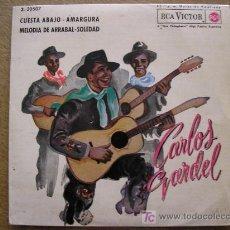 Discos de vinilo: CARLOS GARDEL CUESTA ABAJO E.P. 1962. Lote 26154339