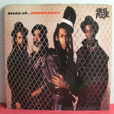 Discos de vinilo: STEEL PULSE ( STATE OF... EMERGENCY ) ENGLAND - 1988 LP33 MCA RECORDS. Lote 4441576