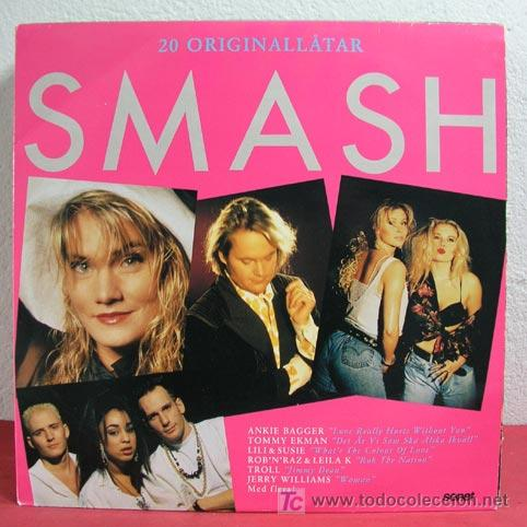 20 ORIGINAL 'SMASH' (ANKIE BAGGER, TOMMY EKMAN, LILI & SUSIE,JERRY WILLIAMS...) 1990 LP33 DOBLE (Música - Discos - LP Vinilo - Pop - Rock Extranjero de los 90 a la actualidad)