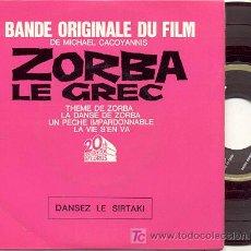 Discos de vinilo: EP 45 RPM / ZORBA EL GRIEGO /// EDITADO POR 20 TH CENTURY FOX. Lote 4585623
