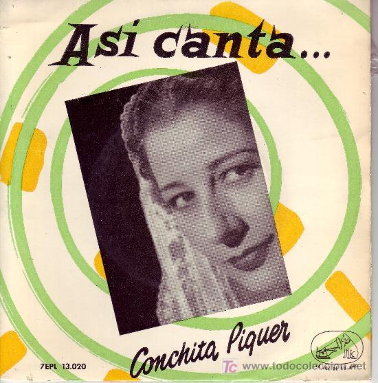 CONCHITA PIQUER DISCO EP EMI 13.020 (Música - Discos de Vinilo - EPs - Flamenco, Canción española y Cuplé)
