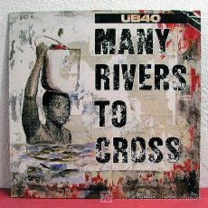 Discos de vinilo: UB40 ( MANY RIVERS TO CROSS - FOOD FOR THOUGHT - JOHNNY TOO GOOD ) 1983 MAXI. Lote 4604715