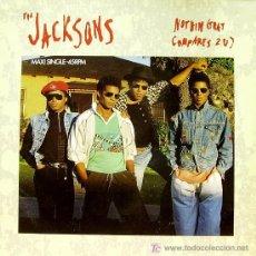 Discos de vinilo: THE JACKSONS - NOTHING COMPARES 2 U MAXI SINGLE EDITADO POR EPIC EN 1989. Lote 14670919