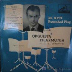 Discos de vinilo: ORQUESTA FILARMÓNICA. DIR. IGOR MARKEVITCH. 1SINGLE.. Lote 4828332