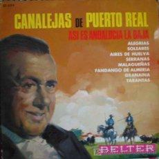 Discos de vinil: CANALEJAS DE PUERTO REAL: ASI ES ANDALUCIA.AÑO: 1961.1SINGLE.. Lote 4855855