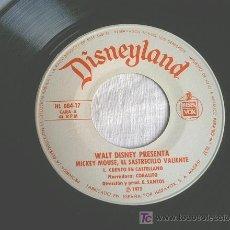 Discos de vinilo: MICKEY MOUSE, EL SASTRECITO VALIENTE - CUENTO. Lote 6901942