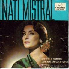 Discos de vinilo: NATI MISTRAL-PIEDRA Y CAMINO + 3 EP VINILO RARO EDITADO POR COLUMBIA EN 1965. Lote 4685384