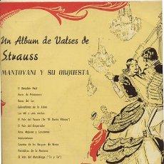 LP 33 RPM / MANTOVANI / VALSES DE STRAUSS ///// EDITADO POR DECCA