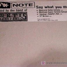 Discos de vinilo: D NOTE / SAY WHAT YOU MEAN / VC RECORDINGS 1998. Lote 26137230