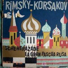 Discos de vinilo: LP-RIMSKY KORSAKOV-SCHEHERAZADE Y LA GRAN PASCUA RUSA-ORIGINAL ESPAÑOL, BELTER 1958. Lote 23768863