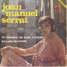 Discos de vinilo: JOAN MANUEL SERRAT SINGLE NOVOLA 1968 . Lote 19484716