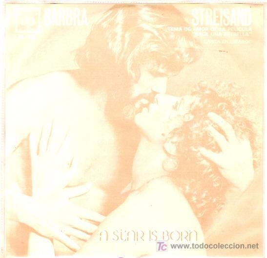 BARBRA STREISAND EP EDICION MEXICANA TEMA PRINCIPAL CANTADO EN ESPAÑOL (Música - Discos de Vinilo - EPs - Bandas Sonoras y Actores)