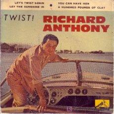 Discos de vinilo: RICHARD ANTHONY CON LOS ANGELES EP TWIST 1961 SPA. Lote 12728054
