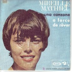 Discos de vinilo: MIREILLE MATHIEU SINGLE UNA CANZONE 1968 SPA SONAPLAY. Lote 13610874