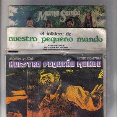 Discos de vinilo: 3 SINGLES DE NUESTRO PEQUEÑO MUNDO. Lote 25703349