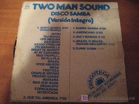LP VINILO DE TWO MAN SOUND, DISCO SAMBA, VERSIÓN INTEGRA, ESPECIAL DISC-JOCKEYS (Música - Discos - LP Vinilo - Disco y Dance)