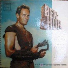 Discos de vinilo: BEN-HUR. ALBUM PELÍCULA + 2 DISCOS VINILO. RACONTE PAR JEAN DESAILLY, AVEC SERGE REGGIANI… . Lote 4860900