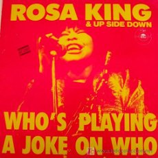 Discos de vinilo: ROSA KING / WHO´S PLAYING A JOKE ON WHO / MAXISINGLE /1988. Lote 26437157