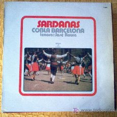 Discos de vinilo: LP - SARDANAS COBLA DE BARCELONA - TENORA: JOSE ROURA. Lote 20206549