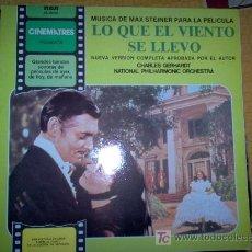 Discos de vinilo: LP - BSO - LO QUE EL VIENTO SE LLEVO. Lote 20447862