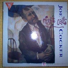 Discos de vinilo: LP - JOE COCKER - NIGHT CALLS. Lote 7536650