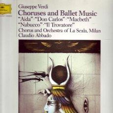 Discos de vinilo: GIUSEPPE VERDI LP MUSICA CLASICA CHORUSES AND BALLET MUSIC VER FOTO ADICIOONAL. Lote 20625990