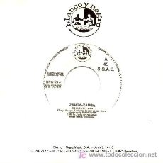 Discos de vinilo: ZANGA - ZANGA ··· OH CIOLILI - (SINGLE 45 RPM). Lote 27168746