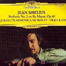 Discos de vinilo: JEAN SIBELIUS LP SINFONIA N 2 EN RE MAYOR OP 43 1977 D.GRAMMOHON. Lote 4914714